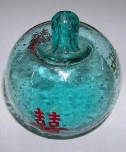 Mar Feng Shui din sticla cu Simbolul Dublei Fericiri