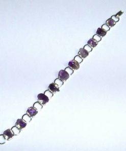 Bratara placata cu cristale de ametist